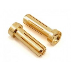 Vampire Racing High Current 5mm Gold Plug Male