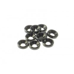 Hiro Seiko 3mm Alloy Countersunk Washer [Black] ( 10 pcs)