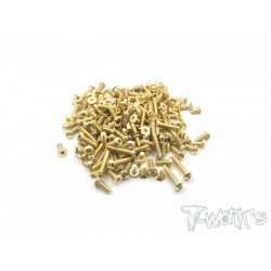 T-Works Gold Plated Steel Screw Set ( For Kyosho Lazer ZX6 )